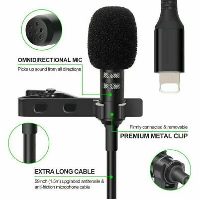 AU18.99 • Buy 1xLapel Lavalier Microphone Auido Youtube Video Recording Mic For IPhone Samsung