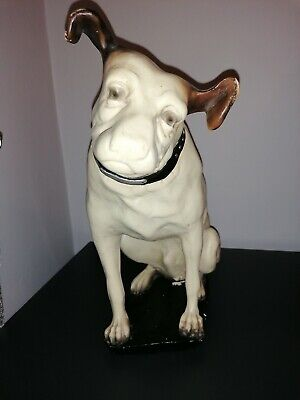 Vintage Iconic Hmv (rca Victor) Advertising Large Nipper Dog (his Masters Voice) • 399£