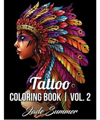 £7.50 • Buy Tattoo Adult Colouring Book Stress Relief Therapy Mind Relaxing Fun Colour Books