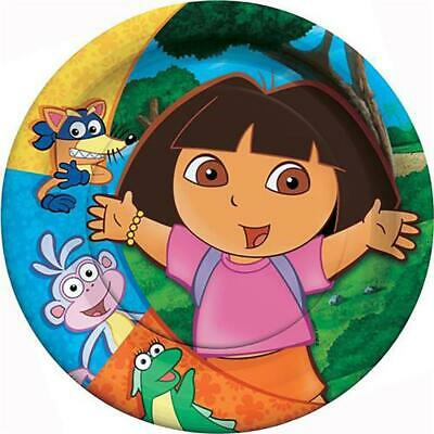 Dora The Explorer Party Dessert Cake Plates 8 Per Package Birthday Supplies New • 2.79£