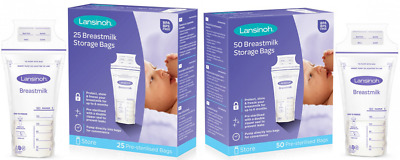 Lansinoh Breast Milk Storage Bags Breastmilk Pouches Pack Of 25 Or 50 • 10.45£
