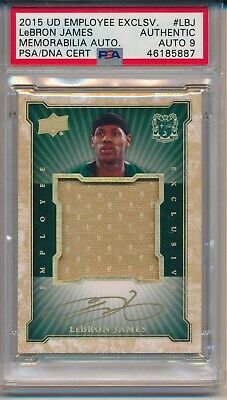 AU12566.76 • Buy LeBron James GOLD INK PSA 9 AUTO Game Used Jersey Relic 2015 Upper Deck Emp. Exc