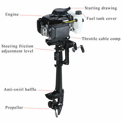 AU520 • Buy 4 Stroke 4.0HP Superior Engine Outboard Motor For Inflatabl