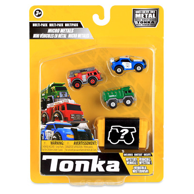 £10.95 • Buy Tonka Micro Metals Police Cruiser, Fire Truck And Rescue Copter, Kids Cars Toys✅