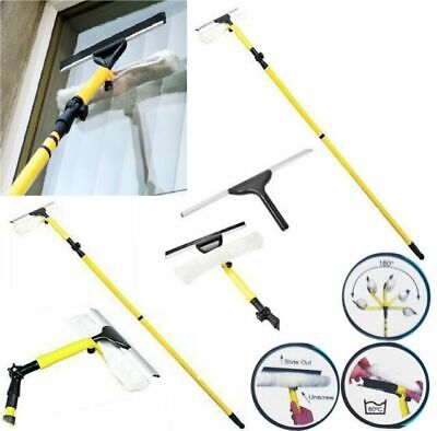 3 X 3.5M Extendable Telescopic Window Squeegee Pole Glass Dust Cleaner Brush Kit • 32.99£