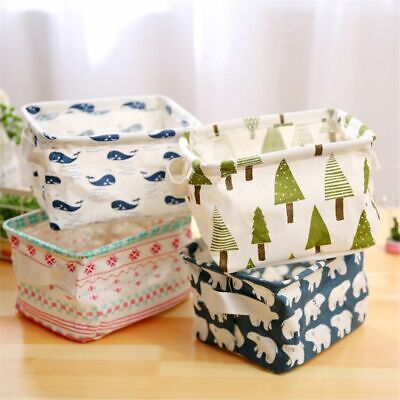 £6.18 • Buy Linen Storage Box Organizer Plastic Card Storage Mini Basket Cosmetic Underwear