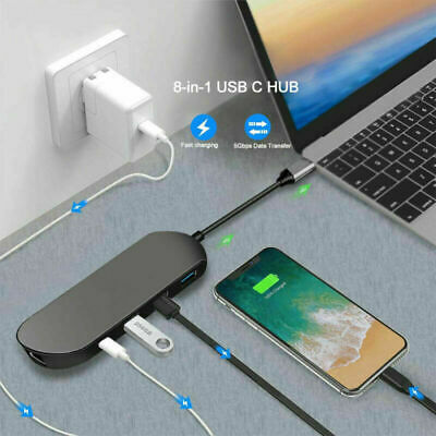 AU49.99 • Buy Type C To Ethernet RJ45 USB 3.0 4K HDMI Charger Hub Adapter For Macbook Air Pro