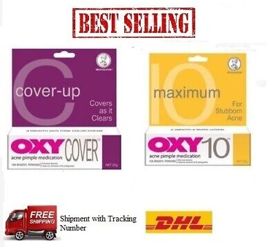 OXY Acne Pimple Cream (OXY 10/OXY Cover-up) 25g-Free Shipping • 15.50£