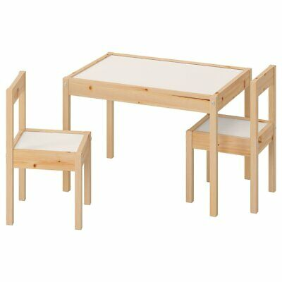 IKEA Latt Children's Small Table And 2 Chairs Pine Wood Kids Furniture Set • 37£