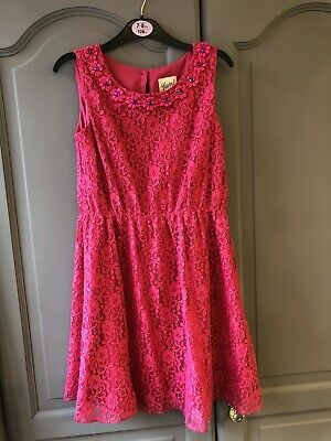 Girls John Lewis Yumi Pretty Pink Dress Age 7-8 Years • 8£