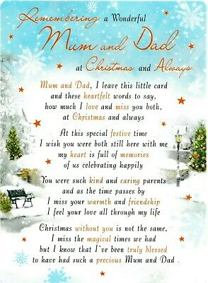 MUM AND DAD At Christmas Memorial Grave Graveside Card Memoriam And Holder • 2.89£