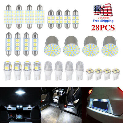 $10.22 • Buy 28 Assorted LED Car Interior Inside Light Dome Trunk Map License Plate Lamp Bulb