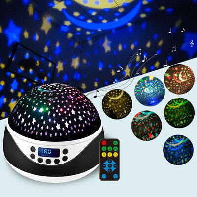 Remote Baby Kids Night Light With Timer Music Star Projector Lamp Christmas Gift • 15.63£