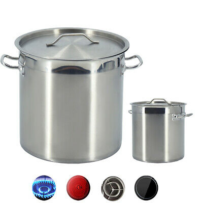 £119.50 • Buy 2-115L Deep Stock Pot Stainless Steel Catering Soup With Lid Cooking Pot