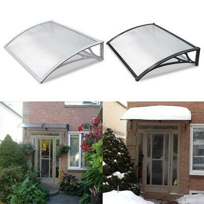 Door Porch Canopy Awning Rain Shelter Outdoor Patio Roof Cover White/Black • 39.99£