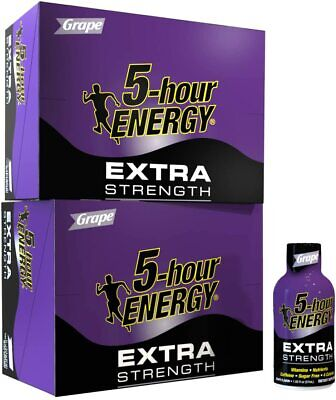 $ CDN73.24 • Buy 5 Hour Energy Extra Strength Grape TWO 12 Count Boxes Sugar Free 24 Count Total