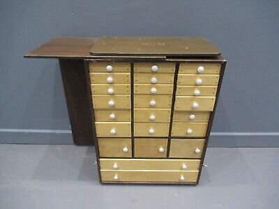 Vintage Multi Drawer Chest Of Drawers Collectors Cabinet Industrial Cabinet • 130£