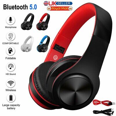 £20.61 • Buy Bluetooth Wireless / Wired Stereo Headphones Headset Over Ear For IPhone Samsung