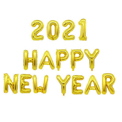 2021 Happy New Year Number 16  Foil Balloons Eve Party Decor Merry Christmas UK  • 3.98£