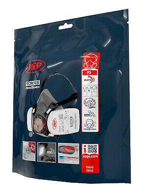 JSP Force 8 Medium Mask Plus P3 Press To Check Filters - Brand New - Next Day • 17.50£