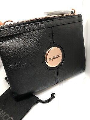 AU129.99 • Buy Mimco Mim Couch Hip Bag Black Rose Gold Bnwt Dustbag Rrp$199