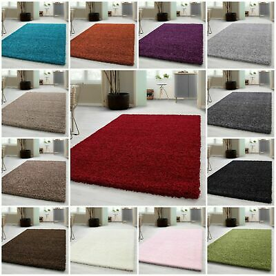 Thick Shaggy Large Rugs Hallway Rug Runner Non Slip Living Room Carpet Deep Pile • 20.99£