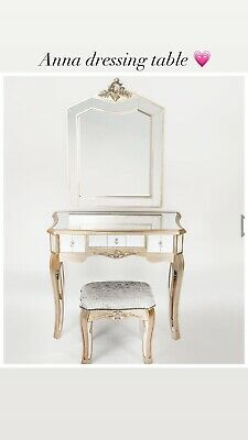 French Style Mirrored Dressing Table Set • 450£