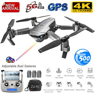 AU179.06 • Buy SG907 GPS Drone With 4K 5G HD Dual Camera WIFI FPV RC Quadcopter Foldable Drone