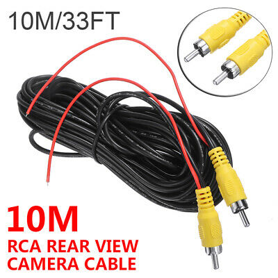 10M Car Reverse Rear View Parking Camera Video RCA Extension Cable Wire Lead • 4.99£
