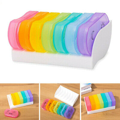 Weekly Pill Box 7 Day AM PM Medicine Storage Organizer Dispenser Case Travel UK • 5.99£