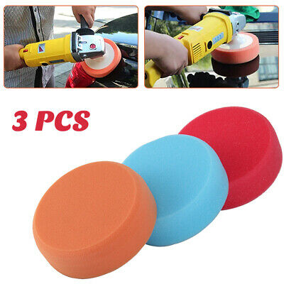 3pcs 6in Car Polishing Heads Mop Pads Sponge Soft Foam Buffing M14 Thread • 7.29£