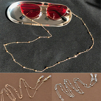 Glasses Sunglasses Chain Holder Gold Silver Lanyard Necklace Neck Cord String E • 1.89£