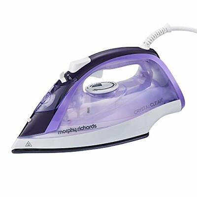 Morphy Richards 300301 Steam Iron Crystal Clear Water Tank, 2400 W, Amethyst • 32.99£
