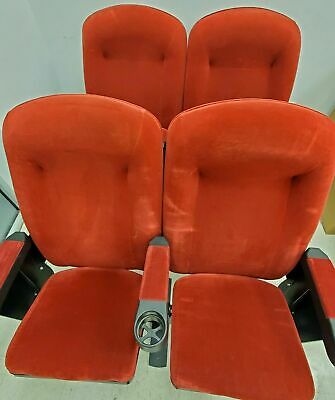 HOME THEATER SEATING Real Cinema Movie Chair Seats RED Velvet • 225£