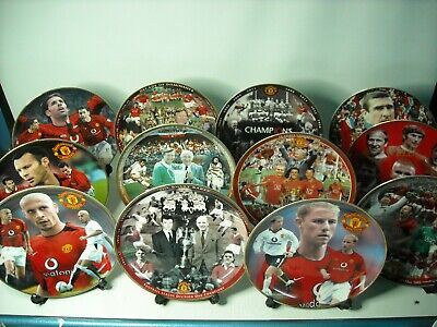 Choose ONE OR MORE Danbury Mint MANCHESTER UNITED Plates Champions Legends Plate • 19.95£