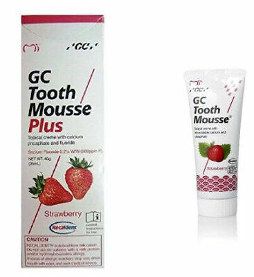 AU32.32 • Buy GC Tooth Mousse Plus ( Strawberry Flavor ) (40 Gm)