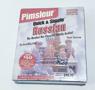 £13.04 • Buy Pimsleur Russian 4 Disc Audio Lessons Simon & Schuster FREE SHIPPING