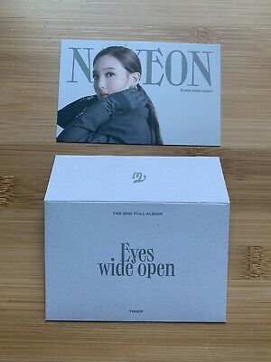 Kpop Twice Official Eyes Wide Open I Can't Stop Me Message Nayeon Photocard • 3.50£