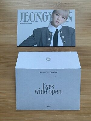 Kpop Twice Official Eyes Wide Open I Can't Stop Me Message Jeongyeon Photocard • 3.50£