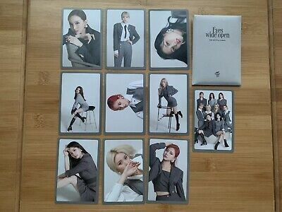 Kpop Twice Official Eyes Wide Open I Can't Stop Me PreOrder Photocard Set Style • 8.50£