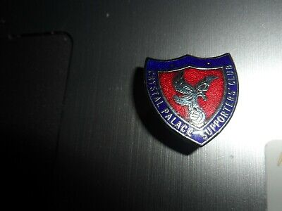 £9.99 • Buy Rare Old Football Badge Crystal Palace Supporters Club Chrome Brooch Pin Fitting