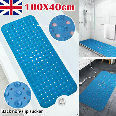 Extra Large Bath Shower Mat Non Slip PVC Bathroom Bathtub Rubber Strong Suctions • 6.99£