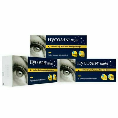 £11.99 • Buy 3x Hycosan Night Eye Ointment (was Called Vita-POS A) Recommended By Opticians