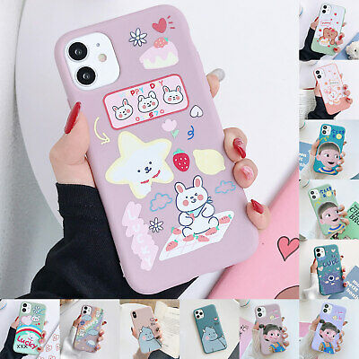 AU8.39 • Buy For IPhone 11 Pro Max XS XR X 8 7 Plus Cute Cartoon Rubber Slim Soft Case Cover