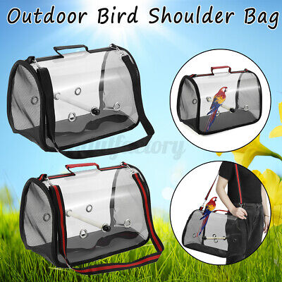 Parrot Bird Carrier Backpack Travel Outdoor Transport Cage Breathable Bag • 17.59£