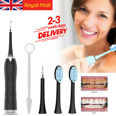 Electric Teeth Stains Cleaner Sonic Dental Scaler Tartar Calculus Plaque Remover • 8.99£