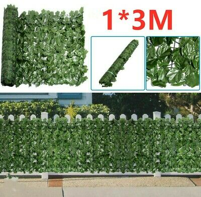 Artificial Fake Ivy Leaf Hedge Privacy Screening Garden Wall Fence Panel 1m X 3m • 18.98£