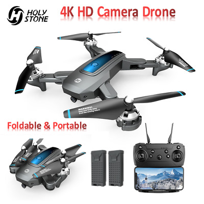 Holy Stone HS240 FPV Foldable RC Drone With 4K HD Camera Quadcopter 2 Batteries • 59.99£