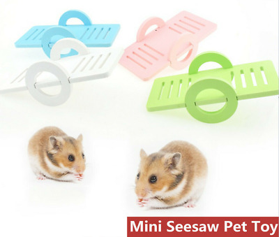 £2.98 • Buy Fun Pet Hamster Seesaw Toy Natural Wood Mouse Small Animal Cage Accessories