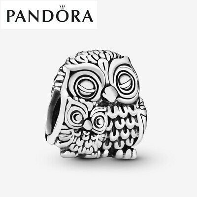Genuine Silver Pandora Mother Owl And Baby Owl Charm With Gift Box 791966 • 16.99£